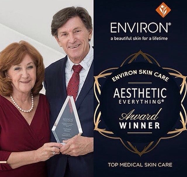 "Environ skincare named the ""top medical skincare brand"" Oct 2018"